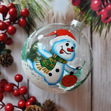 Snowman on transparent background