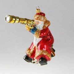 Santa with telescope