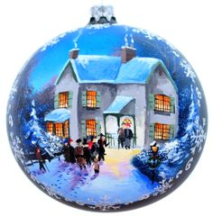 Christmas balls with artistic painting
